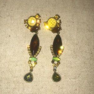 20s style gem costume earrings